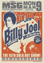 Shop billy joel posters and art prints created by independent artists from around the globe. Madison Square Garden New York State Of Mind Poster For 03 09 15 Billy Joel Official Site