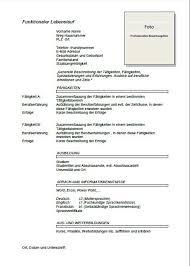 Functional German CV sample