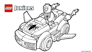 Coloriage Lego Spiderman 2 Voiture Lego Dessin