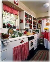 Celebrity Houses And Real Estate Red And White Kitchen Red Country Kitchens Kitchen Decor Sets