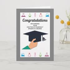 Congratulations For Graduation Pharmacy School Graduation Congratulations Card