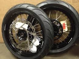 klr650 supermoto warp 9 wheels with tires for sale cycle house