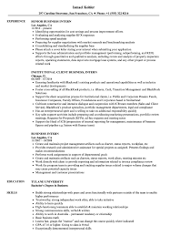 Resume Objective For Internship Business Intern Resume Samples Velvet Jobs