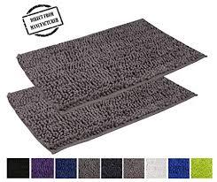 avira home microfiber bath rug set non slip bath mat thick absorbent 2 piece set machine washable gy bath mat set for bathroom 20x31 1550 gsm