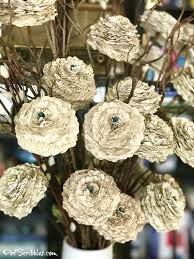 How To Make A Beautiful Flower With Paper How To Make Beautiful Shabby Paper Flowers Pet Scribbles