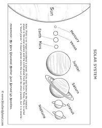Solar System Chart Worksheet Free Printable Worksheets For Preschool Kindergarten 1st