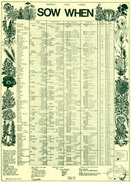 Sowing Chart When To Sow Chart Rolled In Tube