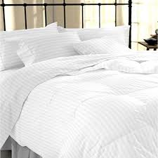 sapphire collection 100 stripe tc400 egyptian cotton white duvet cover set double