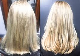 before after tape in hair extensions