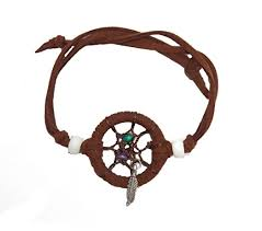 Dream Catcher Bracelet Amazon Amazon Dream Catcher Bracelet Brown Leather Cord Feather 6