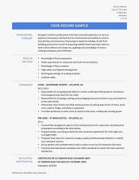 Line Cook Resume Example Extraordinary Line Cook Resume Examples Skills Best Of Cover Letter Objective