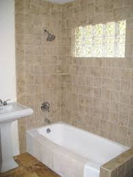 bathroom ideas beige ceramic bathtub wall surround