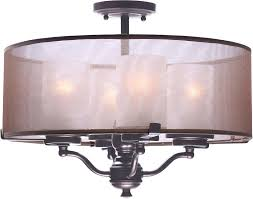 bronze ceiling chandelier maxim lucid oil rubbed bronze semi flush ceiling light loading zoom 4 light