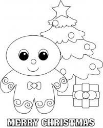 Gingerbread Man Color Christmas Coloring Pages Free Printable