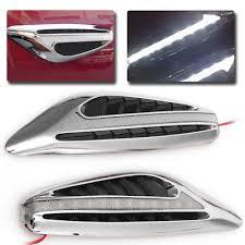2pcs White Universal Blade Car <b>Steering Light</b> Led Turn <b>Signal</b> ...