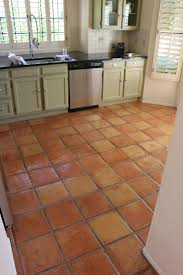Terracotta Floor Tiles Kitchen Antique Terracotta Saltillo Tile Really Adds To The Appeal Of This