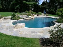 Backyard Pool Designs Landscaping Pools Simple Lovely Kidney Shaped Pool With Raise Spa And Diving Rock Landscape