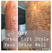diy urban loft style faux brick wall for 50