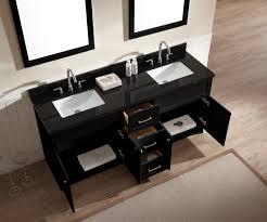 Bathroom Vanity Granite Ariel Hamlet 73 Double Sink Vanity Set With Absolute Black