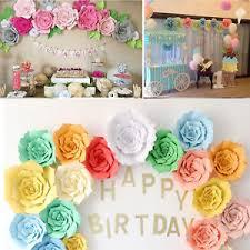 Paper Flower Decor 20cm 30cm Diy Paper Flower Backdrop Decoration Kids Birthday Party