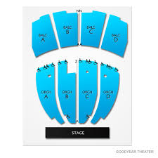 Goodyear Seating Chart Goodyear Theater 2019 Seating Chart