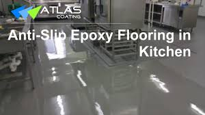 Epoxy Floor Kitchen Epoxy Flooring In A Commercial Kitchen Youtube