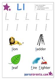 preschool letter worksheet l