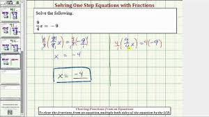 Solving Equations That Contain Fractions Using The