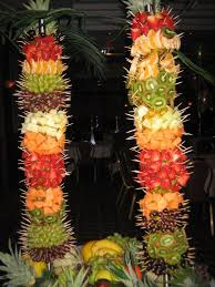YummyTectureu0027s Fruit Kebab Tree  YummyTecture  Pinterest  Fruit Fresh Fruit Tree Display