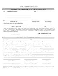 Free Employment Verification Form Template Employment Employer Verification Form Nypd Resume Employee Tamu 96
