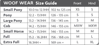 Medical Boot Size Chart Woof Wear Medical Hoof Boot