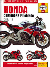honda cbr1000rr fireblade repair manual 2008 2013 haynes