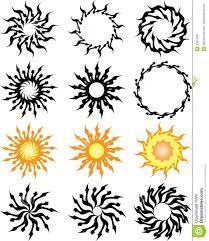 татуировка солнце иллюстрация вектора иллюстрации насчитывающей
