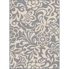 8 x 10 large fl gray indoor outdoor rug garden city rc willey furniture