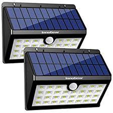 InnoGear Upgraded Solar Lights 30 LED Wall Light Outdoor Security Solar Led Wall Lights