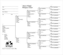 10 Pedigree Chart Templates Pdf Doc Excel Free