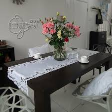 rectangular dining table cover cloth knitted vintage: rustic cloth embroidery dining table cloth table mat coffee table runner cutout cover towel white rose