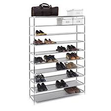 Home Basics 10 Tier Coated Non Woven Shoe Rack Amazon 100 Tier Extra Wide Gray Shoe Rack Shelf Tower Storage 59