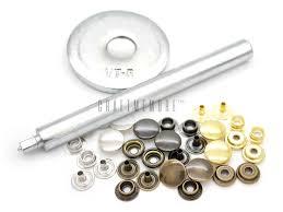 set of fastener stud press setter snap leather craft tool image