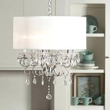 white drum chandelier drum shade light