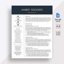 Modern Resume Template Google Docs Google Docs Resume Template Google Docs Cv Template Cover Letter Google Docs Modern Resume Template Instant Download