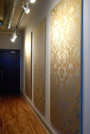 wallpapered fabric covered panels part of a roundup wall covering ideas for ers lots good diy interior wall design with panel diy