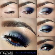 blue eye shadow for brown eyes tutorial with aurora makeup and motives