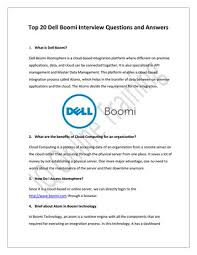 Top 20 Interview Questions Top 20 Dell Boomi Interview Questions And Answers By Charlie
