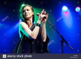 Louise Rhodes, singer of the British band Lamb, live in the Schueuer,  Lucerne, Switzerland, Europe Stock Photo - Alamy