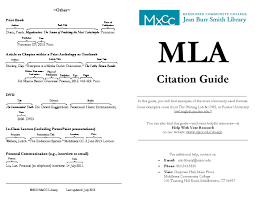 Mla Style Documents Mla Citation Guide Middlesex Community College Middletown Ct