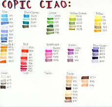 copic ciao color chart ciao color chart by awesomefull person on deviantart