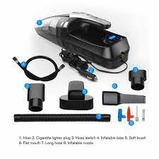 4000PA güçlü emiş gücü araba elektrikli süpürge filtresi hava kompresör  pompası lastik şişirme lastik basınç ölçümü El Aleti Setleri