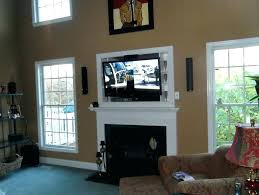 wall mounted tv where to put cable box above fireplace where to put cable box above wall mounted tv