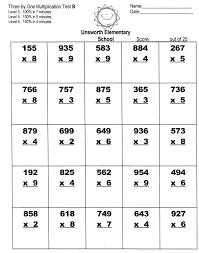Single Digit Multiplication Worksheets Problems Printable Free 3rd ...